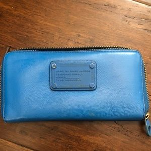 Used Royal blue Marc Jacobs leather wallet
